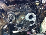 Tirecraft Auto and Exhaust work on Dodge Ram Diesel 3500 engine.